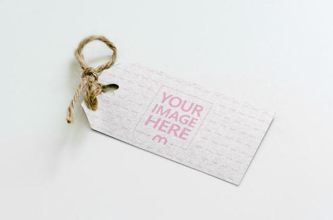Cardboard Label/Gift Tag Mockup Generator preview image