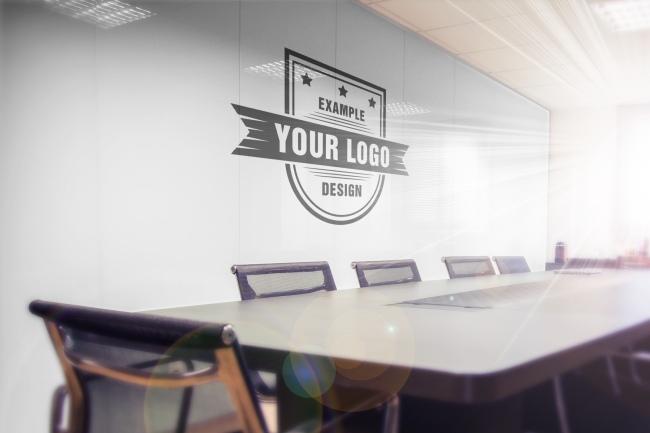 Logo on Office Wall Online Mockup Generator
