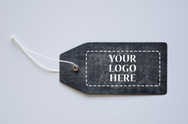 Black Cardboard Label Mockup Generator preview image