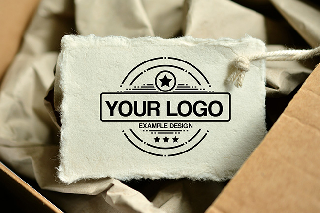 Logo on Paper Tag Online Mockup preview image