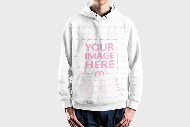Men's Sweatshirt Front View Mockup Generator preview image