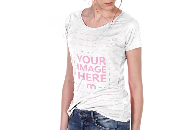Women's T-Shirt Front View Mockup preview image