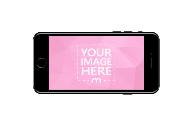 Black iPhone 7 Front Horizontal View Mockup Generator preview image