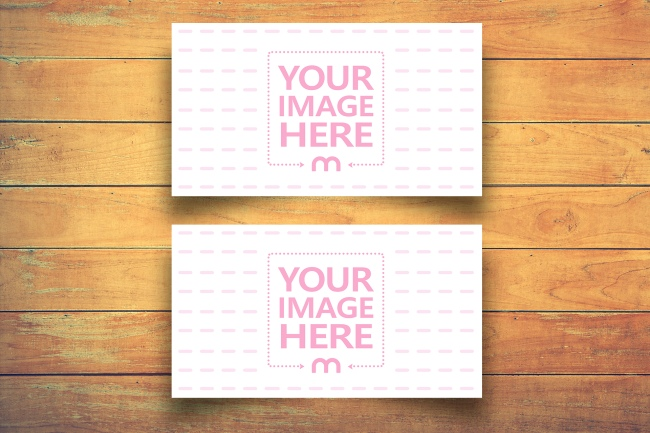 Business Card Front and Back Mockup Generator preview image