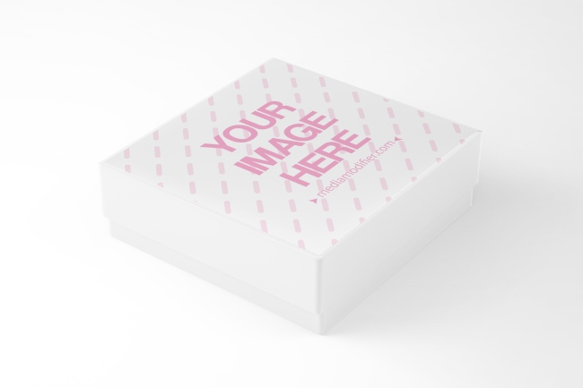 3D Gift Box Side View Mockup Generator preview image