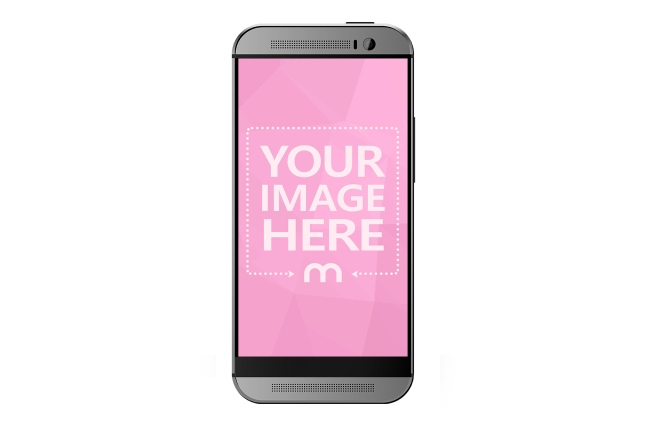 HTC Android Smartphone Front View Mockup Generator preview image