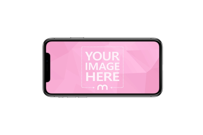 iPhone X Landscape View Mockup Generator preview image
