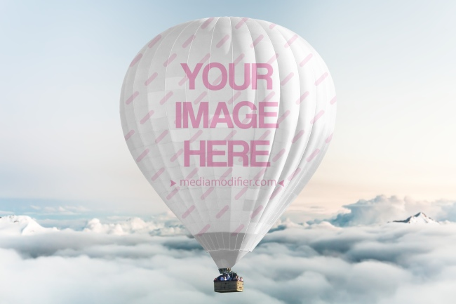 Hot Air Balloon Design Mockup Generator preview image