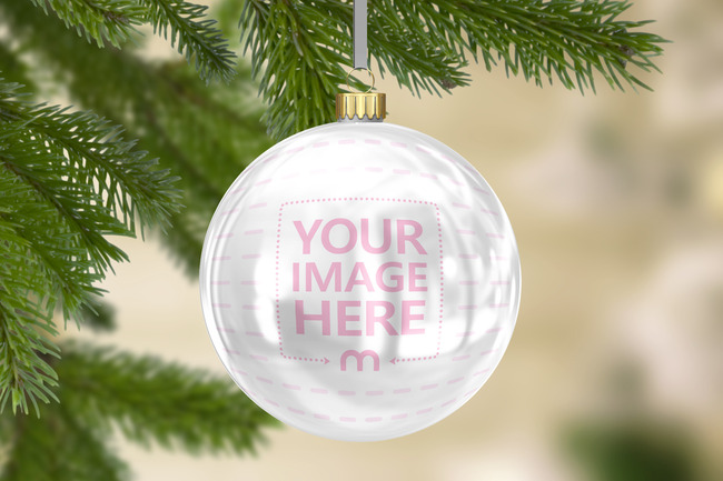 Christmas Ornament Online Mockup Template