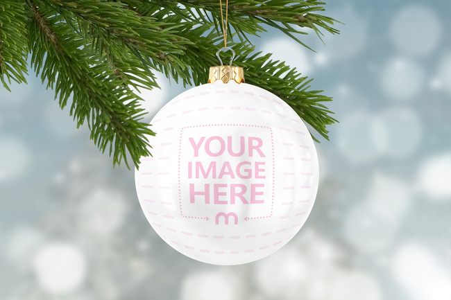 Christmas Ball Ornament Online Mockup Template