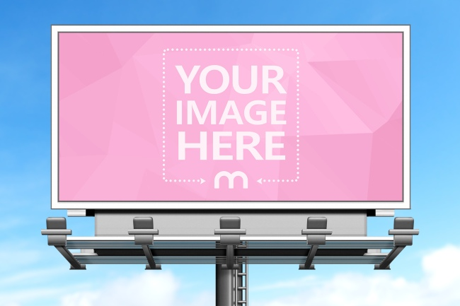 Billboard on Sky Background Mockup Template preview image