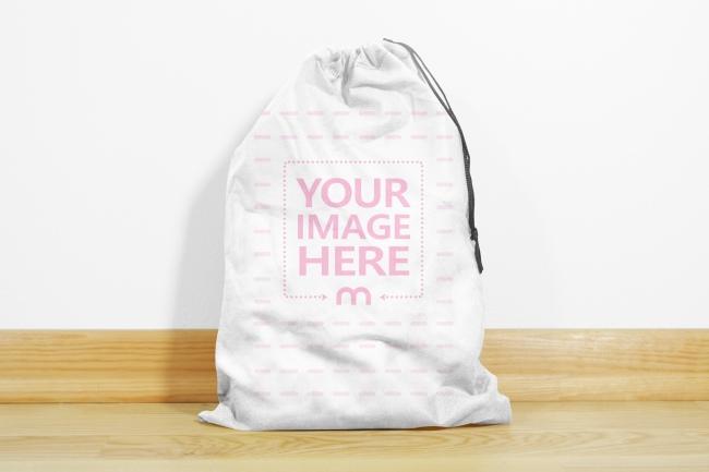 Small Drawstring Cloth Bag Mockup Template