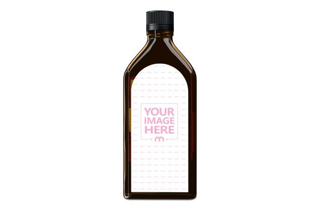 Amber Medical Bottle Label Mockup Generator preview image