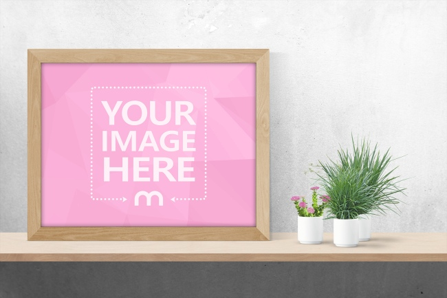 Landscape Photo Frame Mockup Generator