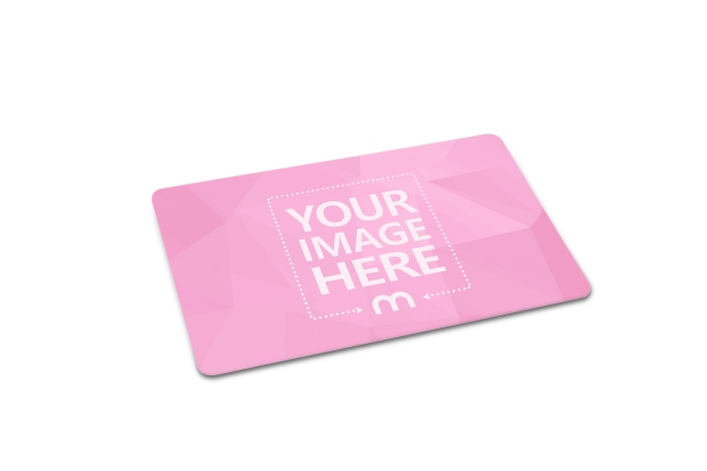 3D Credit/ID Card Lying on Isolated White Background Mockup preview image