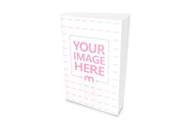 blank paperback book standing free online cover mockup generator