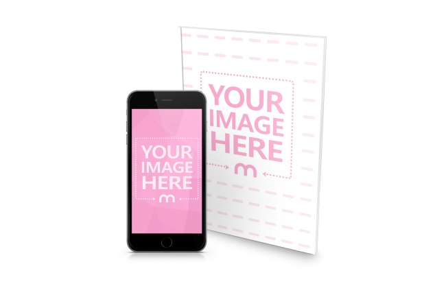 book magazine and iphone digital magazine journal free online mockup generator