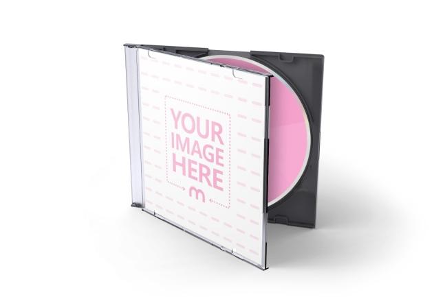 Open CD Jewel Case Standing Mockup Template