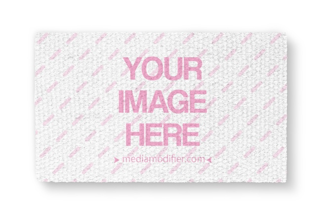 Custom Doormat Isolated on White Background Mockup preview image