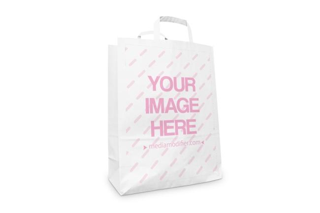 Standing Paper Bag Online Mockup Generator