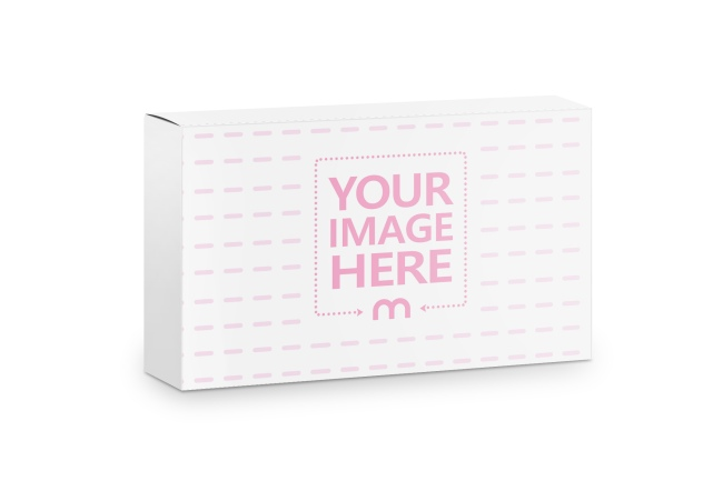 Horizontal Paper Box Online Mockup preview image