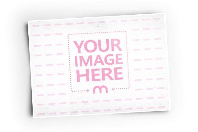 Horizontal Paper Photo Frame Online Image Effect