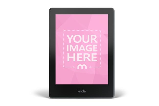 Black Kindle E-Reader Front View Online Mockup Generator preview image