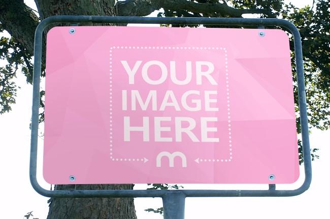Metal Street Sign Mockup Generator preview image