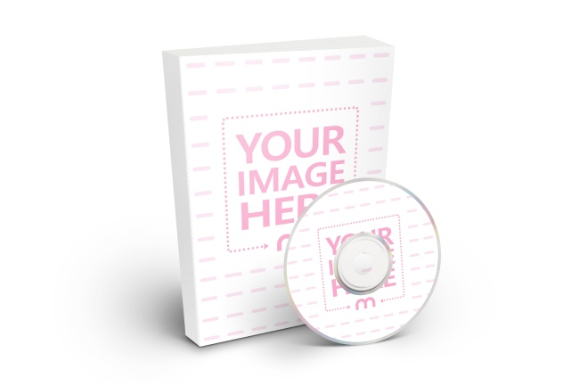 paperback book and disc CD DVD free online cover mockup generator