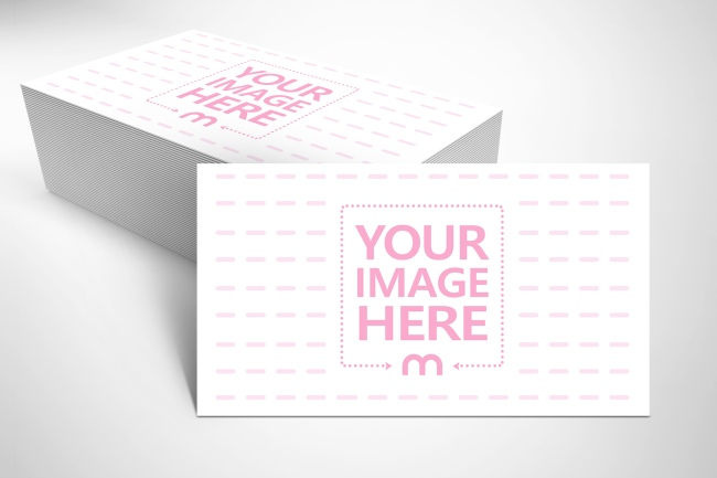 Stack of Business Cards Mockup Generator preview image
