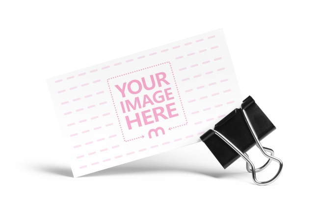 Paper Clip Holding a Business Card preview image