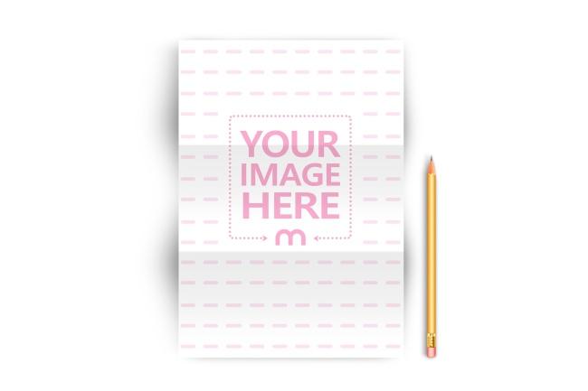 A4 Letterhead Paper Mockup Template