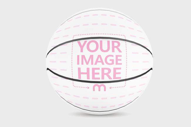 Custom Basketball Front View Mockup Generator