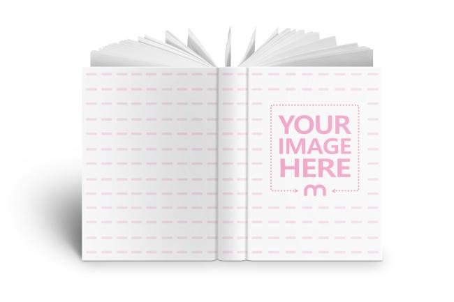 front, back and spine design cover book mockup generator online