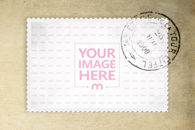 Postmark on Old Envelope Mockup Generator preview image