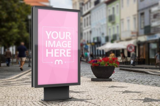 Outdoor Advertisement Billboard Mockup Generator