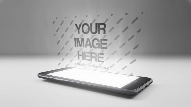 3D iPhone Hologram Display Mockup Generator preview image