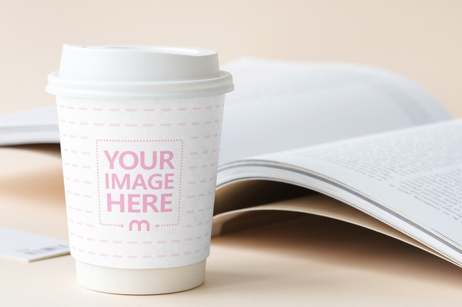 Plastic Coffee Cup Label Mockup Generator