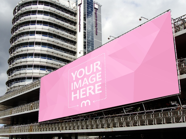 Large Outdoor Billboard Mockup Generator preview image