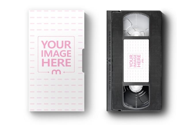 VHS Cassette and Paper Case Mockup Generator