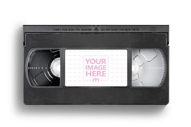 VHS Cassette Label Mockup