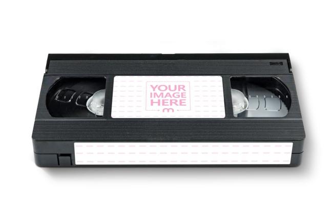 VHS Cassette Labels Mockup