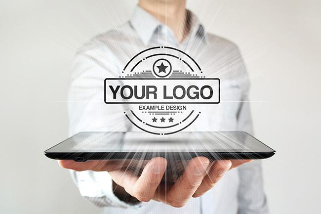 Hovering Logo Hologram Mockup Generator preview image