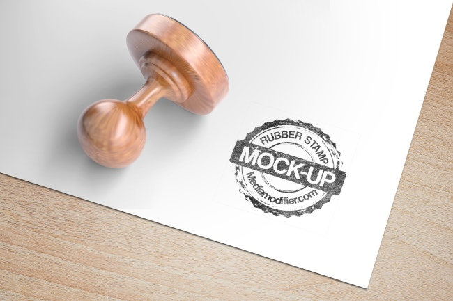 Round Rubber Stamp Mockup Generator