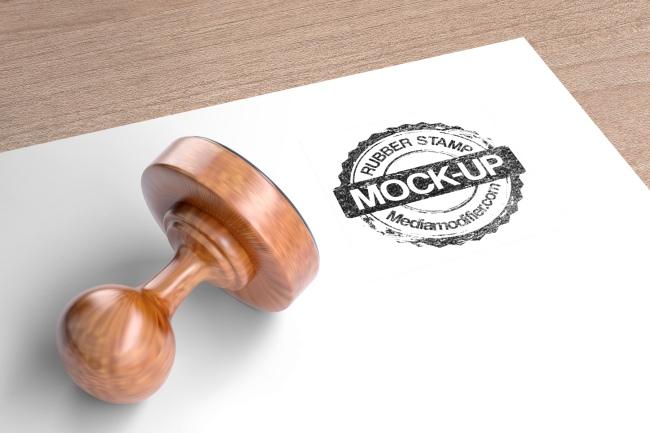 Round Ink Stamp Logo Mockup Generator