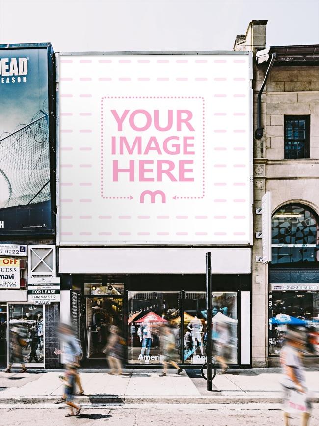 Outdoor Advertisement Billboard Mockup Generator preview image