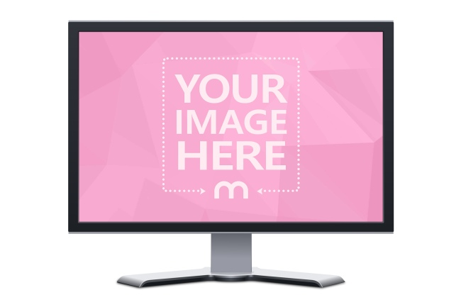 Front View TV on Isolated Background Mockup preview image