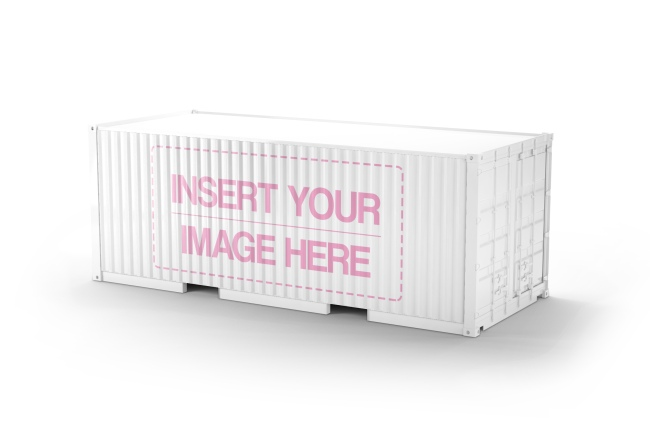 logo on shipping container free online mockup generator template