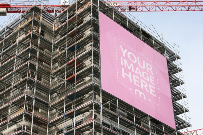 Large Billboard on a Construction Building Mockup preview image
