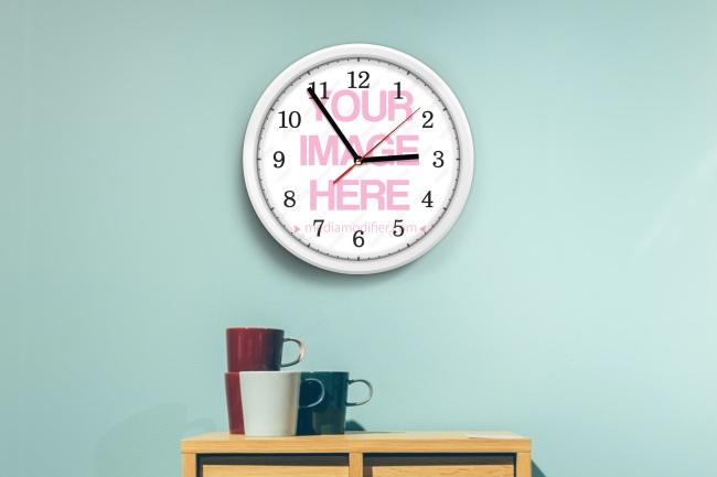 Custom Wall Clock Mockup Generator